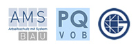 Zertifizierungen AMS Bau, PQ VOB